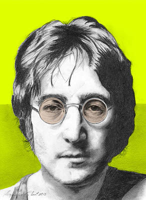 John Lennon Drawing - John Lennon - Individual Lime by Alexander Gilbert