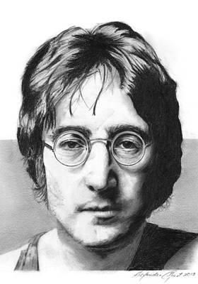 John Lennon Drawing - John Lennon - Pencil by Alexander Gilbert