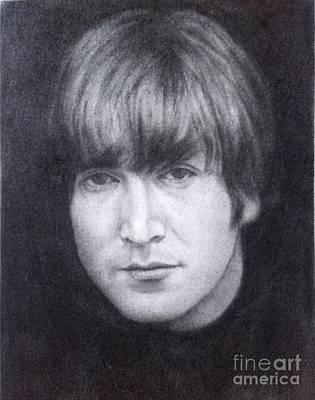 John Lennon Drawing - John Lennon - The Beatles by Richard John Holden RA
