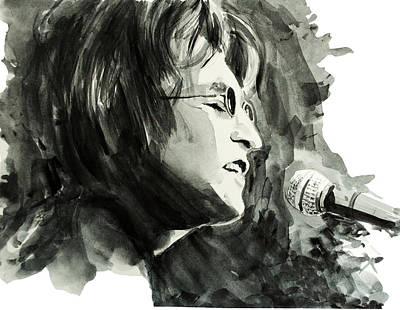 Beatles Drawing - John Lennon 2 by Bekim Art