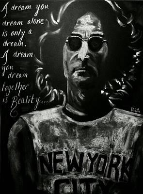John Lennon Drawing - John Lennon by RiA RiA