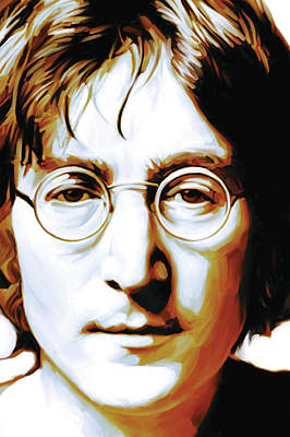 John Lennon Mixed Media - John Lennon Artwork by Sheraz A