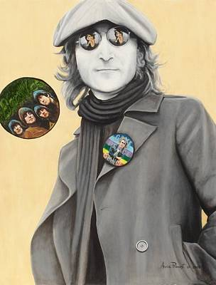 John Lennon-give Peace A Chance Print by Anne Provost