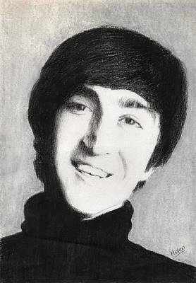 John Lennon Drawing - John Lennon by Helen V James