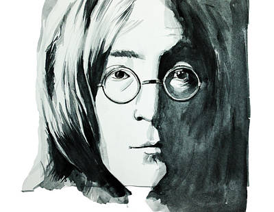 Beatles Drawing - John Lennon by Bekim Art