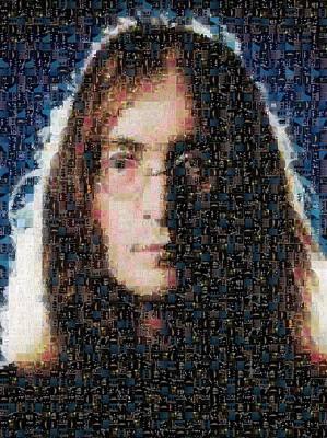 John Lennon Mosaic Image 1 Print by Steve Kearns