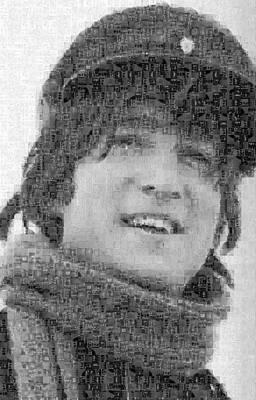 John Lennon Mosaic Image 13 Print by Steve Kearns