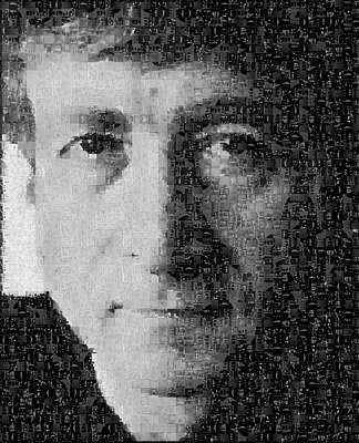 John Lennon Mosaic Image 15 Print by Steve Kearns