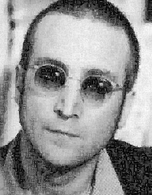 John Lennon Mosaic Image 9 Print by Steve Kearns