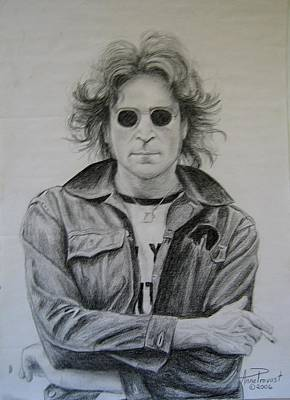 John Lennon Drawing - John Lennon-nyc  by Anne Provost