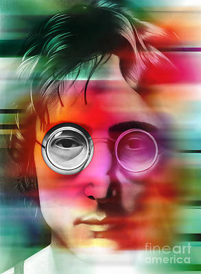 Beatles Digital Art - John Lennon Painting by Marvin Blaine