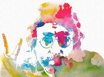 John Lennon Peace Watercolor Print by Dan Sproul