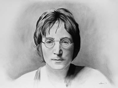 John Lennon Drawing - John Lennon by Robert Bateman