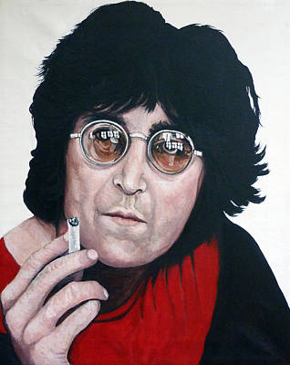 Portrait Painting - John Lennon by Tom Roderick