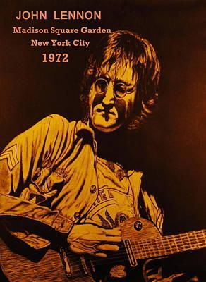 John Lennon Drawing - John Lennon1972 by Charles Rogers