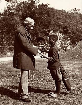 Oil Portrait Photograph - John Rockefeller by American Philosophical Society