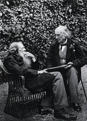 Professor Photograph - John Ruskin And Henry Acland by National Library Of Medicine
