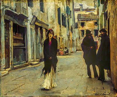 John Singer Sargent - Street In Venice Print by John Singer Sargent