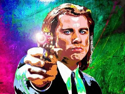 Tarantino Film Painting - John Travolta - Pulp Fiction by Daniel Janda