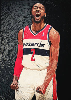 Washington D.c Digital Art - John Wall  by Taylan Soyturk