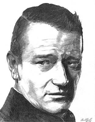 John Wayne Drawing - John Wayne by Ariel Davila