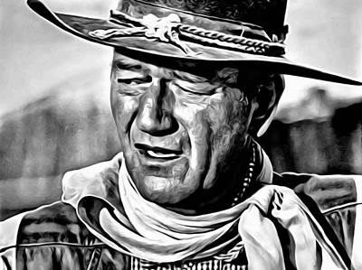 John Wayne Painting - John Wayne by Florian Rodarte