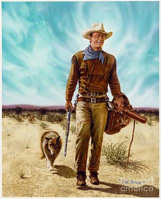 John Wayne Hondo Print by Dick Bobnick