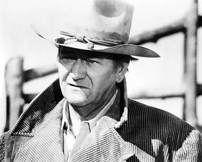 The Cowboy Photograph - John Wayne In The Cowboys  by Silver Screen