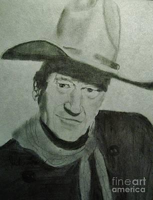 John Wayne Drawing - John Wayne by Jack Lepper