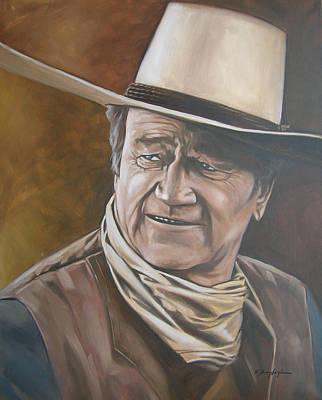 John Wayne Drawing - John Wayne Portrait The Duke by Kevin Breyfogle