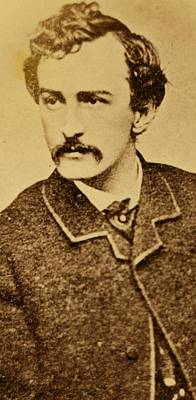 Actor Photograph - John Wilkes Booth by Anonymous