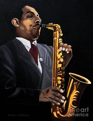 Music Painting - Johnny And The Sax by Barbara McMahon