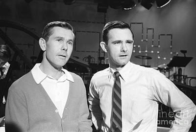Johnny Carson Photograph - Johnny Carson With His Brother Dick Carson 1963 by The Harrington Collection