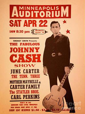 Johnny Cash Print by Bob Hislop