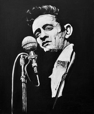 Nashville Painting - Johnny Cash by Melissa O'Brien