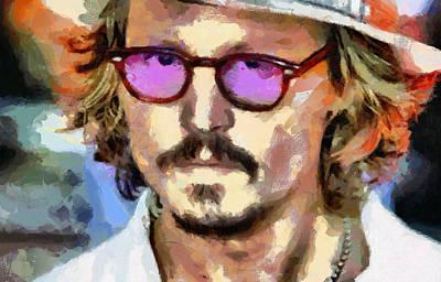 Edward Scissorhands Painting - Johnny Depp by Georgi Dimitrov