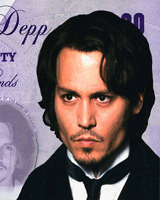 Johnny Depp Digital Art - Johnny Depp by Unknown