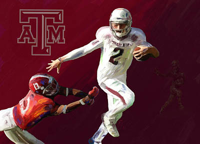 Alabama Painting - Johnny Football by GCannon
