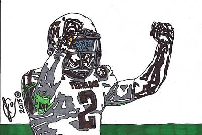Texas A Drawing - Johnny Manziel 3 by Jeremiah Colley