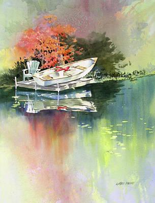 Johns Boat Autumn Print by Kris Parins