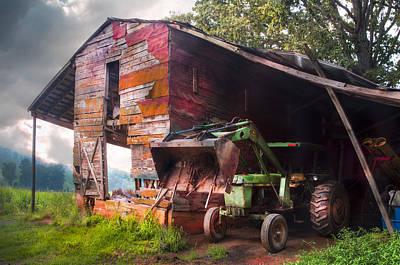 John's In The Barn Print by Debra and Dave Vanderlaan