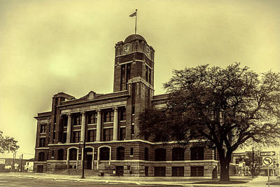 Johnson County Courthouse Print by Joan Carroll