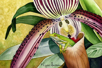 Orchids Painting - Joie De Vivre by Lyse Anthony
