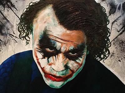 Heath Ledger Painting - Joker  by Arianit Fazliu