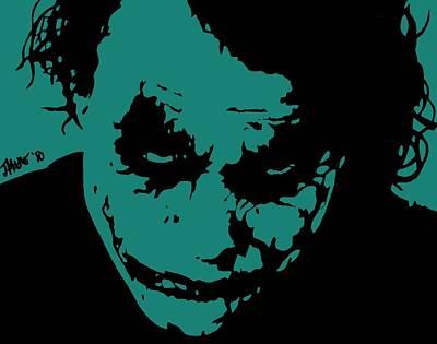 Heath Ledger Digital Art - Joker Blue by Jeremy Moore
