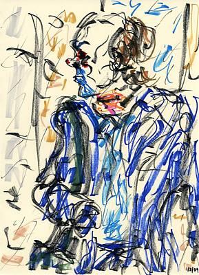 Heath Ledger Drawing - Joker - Bozo by Rachel Scott