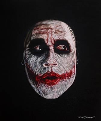 Heath Ledger Painting - Joker In Black by Mark Baker