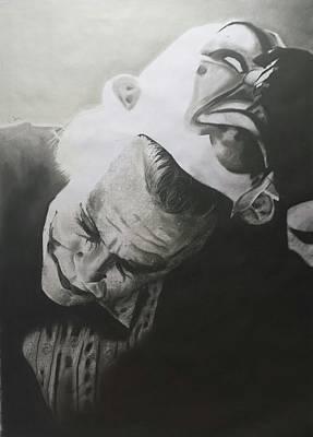 Heath Ledger Drawing - Joker by Jimmy Chard