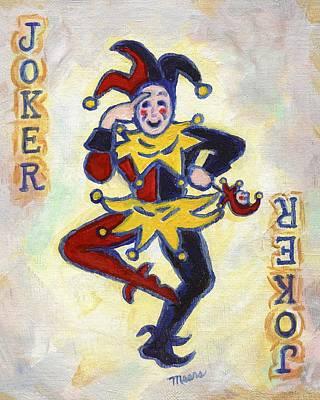 Joker Painting - Joker by Linda Mears