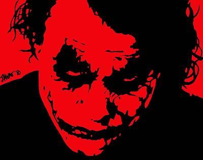 Heath Ledger Digital Art - Joker Red by Jeremy Moore